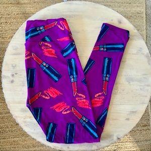 LulaRoe Lipstick Leggings OS